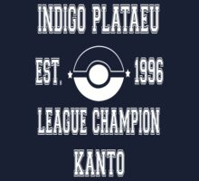 Indigo Plateau League Champion: Pokemon Kanto  Kids Tee
