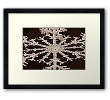 Snowflake Ornament Framed Print