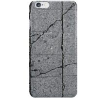 Cracks in a sidewalk iPhone Case/Skin