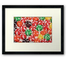 Colorful Candy Framed Print