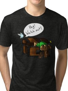 Hey! Watch Out! Tri-blend T-Shirt