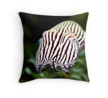 Striped Pyjama Squid Throw Pillow