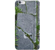Cracks in a sidewalk and Curb iPhone Case/Skin