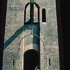Drawbridge into Este palace Ferrara Italy 198404150071 by Fred Mitchell