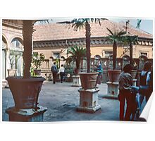 Rooftop garden Este Palace Ferrara Italy 19840415 0074m  Poster
