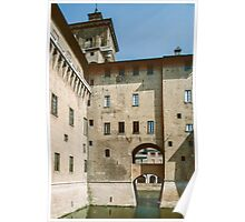 Moat of Este Palace Ferrara Italy 19840415 0075  Poster