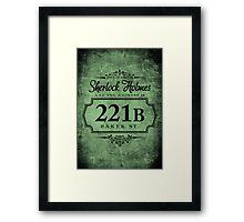 The name's Sherlock Holmes Framed Print