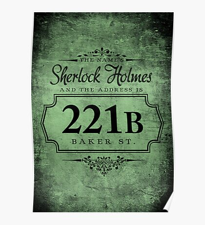 The name's Sherlock Holmes Poster