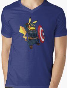 Captain Americhu Mens V-Neck T-Shirt