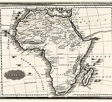 1799 Antique Map of Africa by boogeyman