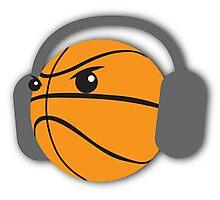 CRAZY headphones BASKETBALL Photographic Print