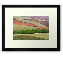 Red Land 04 Framed Print