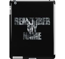 Remember iPad Case/Skin
