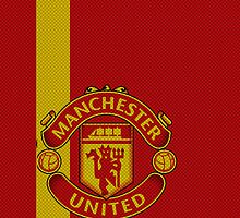 Manchester United Futbol/Football/Soccer Phone Case by iArt Designs