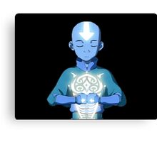 Aang's Avatar State with Raava Canvas Print
