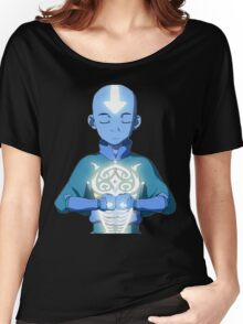 Aang's Avatar State with Raava Women's Relaxed Fit T-Shirt
