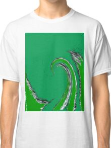 Green Tidal Wave Classic T-Shirt
