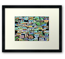 AUSTRALIA - Symbolically speaking Framed Print