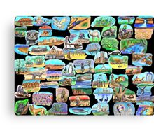AUSTRALIA - Symbolically speaking Canvas Print