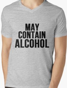 May Contain Alcohol Mens V-Neck T-Shirt