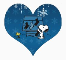 Snoopy Blue Holiday  by CopperChoc