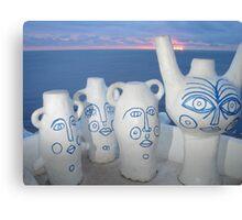 sunset vessel Canvas Print