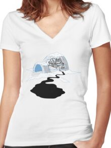 """Dirty Earth """"Ick-gloo"""" Women's Fitted V-Neck T-Shirt"""