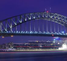 Sydney Harbour Bridge at night. Sticker