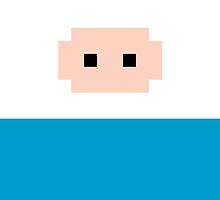 Adventure Time 8-bit Sprite Finn's Face by d13design