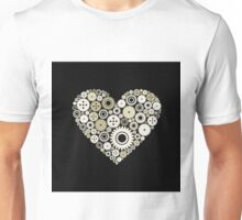 Heart a gear wheel Unisex T-Shirt