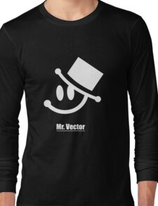 Mr. Vector black Long Sleeve T-Shirt