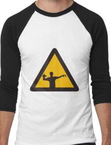 Warning - Zombies Men's Baseball ¾ T-Shirt