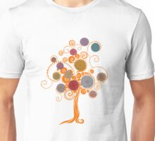 13 Mandala Orange Tree Unisex T-Shirt