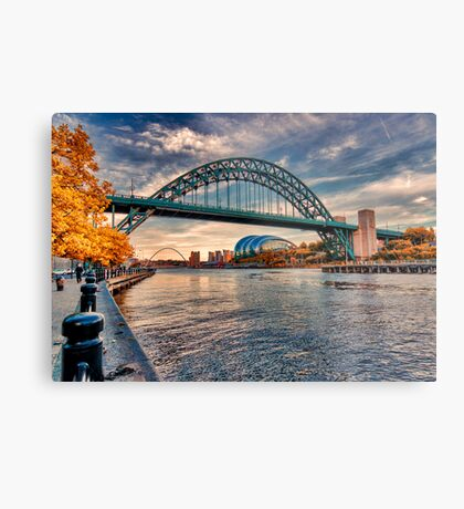 Autumn on the River Tyne Metal Print