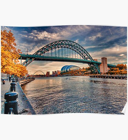 Autumn on the River Tyne Poster