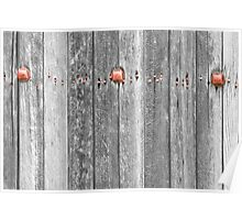 Railroad Wood Texture and Red Bolts BWSC Poster
