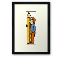 Pencil Lover Framed Print