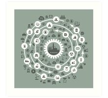 Industry a circle Art Print