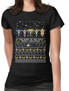 In the name of the moon.. Merry Xmas! Womens Fitted T-Shirt
