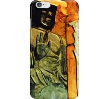 Buddhist Statue in Temple Abstract Impressionism iPhone Case/Skin
