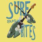 SURF guitar BITES (blue wording) by Matterotica