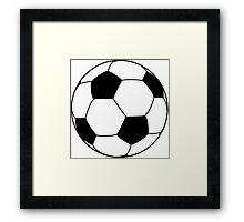 soccer ball Framed Print