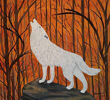 White wolf in the sunset by maggie326