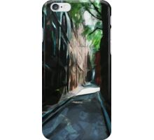 Cobblestone Street Beacon Hill Boston Abstract Impressionism iPhone Case/Skin