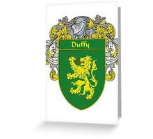 Duffy Coat of Arms/Family Crest Greeting Card