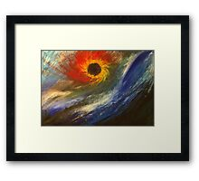 A flower of beauty and compassion Framed Print