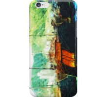 Boats in Hong Kong Harbor Abstract Impressionism iPhone Case/Skin