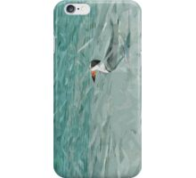 Black Skimmer on the Beach Abstract Impressionism iPhone Case/Skin