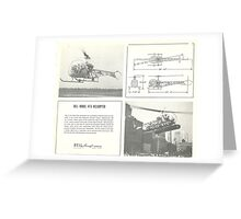 Bell Model 47G Helicopter Greeting Card