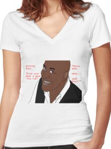 Ainsley Harriott - Spicy Meat Women's Fitted V-Neck T-Shirt